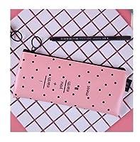 文房具 LMHかわいい黒い鉛筆ケースカワイイポータブルレザーペンシルバッグボックス文房具ペンポーチギフトオフィススクールサプライ ディスペンサー (Color : 5)
