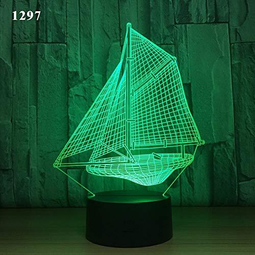 Segelboot Segelyacht U-Boot Design Nachtlicht Acryl Illusion Farbe Kinder Fre&e Geschenk Geschenk Spielzeug Werfen Boot