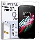 REY Protector de Pantalla para ALCATEL Idol 3 5.5' Cristal Vidrio Templado Premium