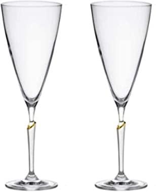 Goblets Wine Glasses Set of 2 Clear Goblet Durable Glassware Exquisite Wine Cup Party and Wedding Anniversary Stemware Unicoo