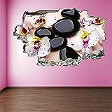 Pegatinas de pared etiqueta de la pared Orquídea Flores 3D Wall Art Sticker Mural Decal Poster Home Decor
