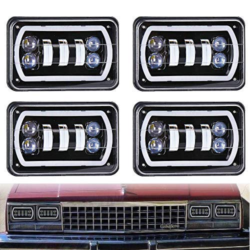 Lot de 4 phares LED pour Kenworth T400 T600 T800 W900L W900B Classic 120/132
