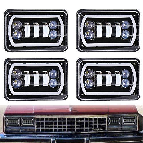 Lot de 4 phares LED pour Kenworth T400 T600 T800 W900L W900B Classic 120/132