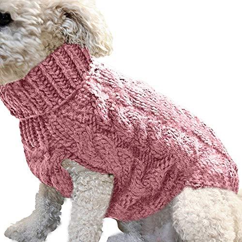 ZUHANGMENG Chaleco suéter para Perros Abrigo cálido, Suave y cómodo Pequeño Perro de Mascota Jersey de Invierno cálido Jersey de Punto, Ropa para Perros Navidad, Colores Variados y Opciones de tamaño