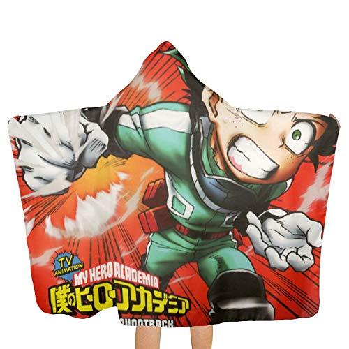 Boku No Hero Academia 4 Beach Towel with Hood Microfiber Fast Drying Bath Towels Swimming Camping Towel Adults SPA 31.5x51.2 Inch