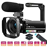 MELCAM Videocamera UHD 2.7K Camcorder 36MP Vlogging Youtube Fotocamera IR Visione Notturna 3.0' IPS...