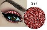 Ombretto glitterato pressato con glitter, n. 28, rosso e arancione
