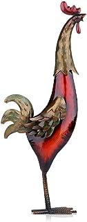 ECSWP MLJW Figurine en métal Coq de Fer Accessoires de décoration de la Maison Asie Art Multicolore ameublement Artisanat ...