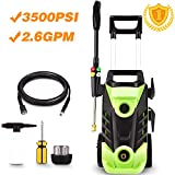 Homdox 3500 PSI Electric Pressure Washer, 1800W Power Washer, 2.6GPM High Pressure Washer, Professional Washer Cleaner Machine with 4 Interchangeable Nozzles,with Telescopic Handle
