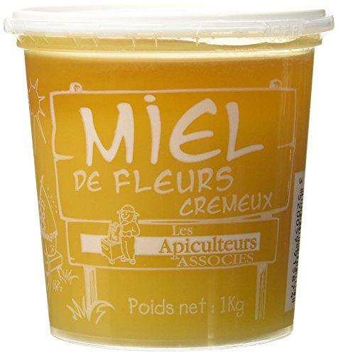 Les Apiculteurs Associés Miel de Fleurs Crémeux Pot Tradition 1.00 kg - Lot de 2