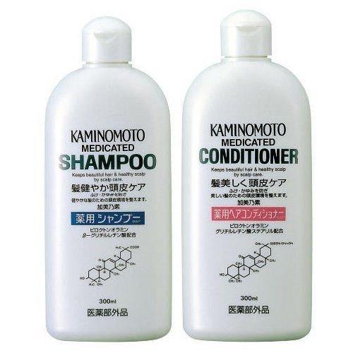 Kaminomoto Japan Medicated Scalp Hair Growth B&p Shampoo & Conditioner 300ml by KAMINOMOTO Japan