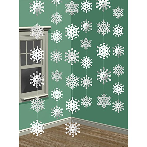 Christmas Snowflakes String Decoration 7 Feet - Pack of...