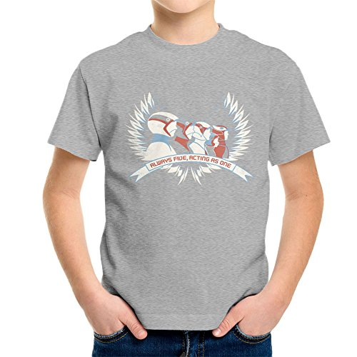 Cloud City 7 Always Five Acting As One Battle of The Planets Science Ninja Team Gatchaman Kid's T-Shirt