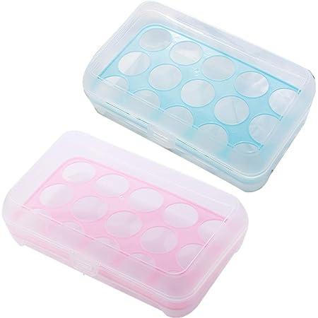 Plastique œUfs BoîTe, 2 Pièces Boite à œufs en Plastique, Rangement Boîte à œufs Boîte, Boîte de Rangement pour œufs, Plastique Boîte De Stockage D'Oeufs, pour Réfrigérateur, Randonnée, Extérieur