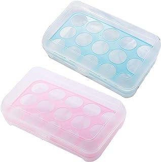 Plastique œUfs BoîTe, 2 Pièces Boite à œufs en Plastique, Rangement Boîte à œufs Boîte, Boîte de Rangement pour œufs, Plas...