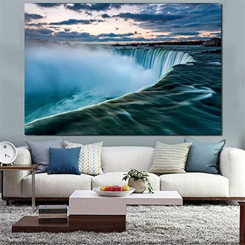 zgwxp77 Poster und drucke Wasserfall Landschaft hauptdekoration wandkunst leinwand malerei