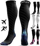 Compression Socks for Men & Women - Anti DVT Varicose Vein Stockings - Running - Shin Splints Calf...