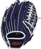 ゼット(ZETT) 軟式 野球グローブ 大人用 オールラウンド 初心者用 衝撃吸収パッド付き 11.5インチ 右投用 ブルー BDG2012 グラブ