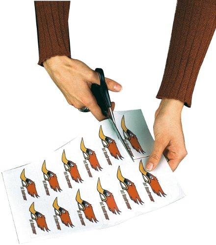 Sattleford Laser Klebefolie: 20 Klebefolien wetterfest A4 für Laserdrucker weiß (Aufkleber Laserdrucker wetterfest)