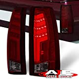 AJP Distributors For C/K C10 1500 2500 3500 Suburban Tahoe Yukon Blaze Escalade Step Side Pickup Truck Rear Tail Light Lamps LED Brake Lamp Tron Neon Tube Style Upgrade Replacement Braking Lights