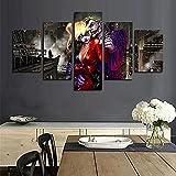 CGHBDOP 5 Piezas Dark Knight Joke y Harley Quinn película L