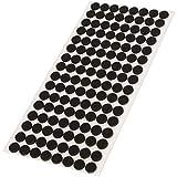 Adsamm® | 128 x Filzgleiter | Ø 12 mm | Schwarz | rund | 3.5 mm starke selbstklebende Filz-Möbelgleiter in Top-Qualität