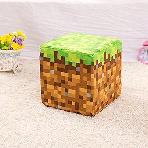SZSBLT Minecraft, Redstone Ore Block, Storage Box Block, Grass Block, TNT Block, Plush Block, Plush Toy 20CM * 20CM * 20CM, Super-Exquisite Press and Rebound Plush Block Accesorios para Juegos