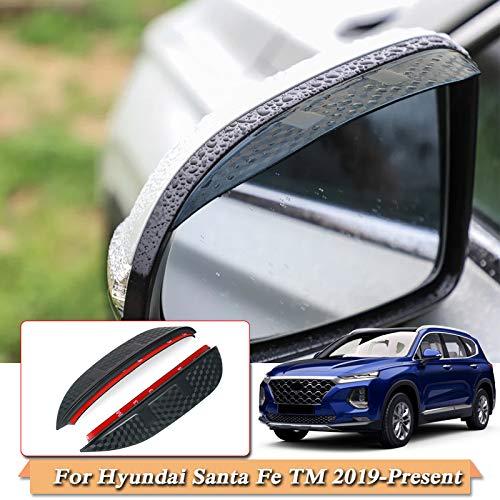 Piaobaige Für Hyundai Santa fe tm 2019-2020 Auto Styling Carbon rückspiegel Regen augenbraue regendicht Flexible klingenschutz zubehör