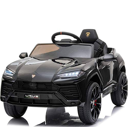 - XMGHTU - Recaceik Kids Ride On Car 12V Rechargeable Toy Vehicle w/ MP3 Remote Control,Equipped with Seat Belts, Four-Wheel Shock Absorbers, Lights (Yellow) (Black)