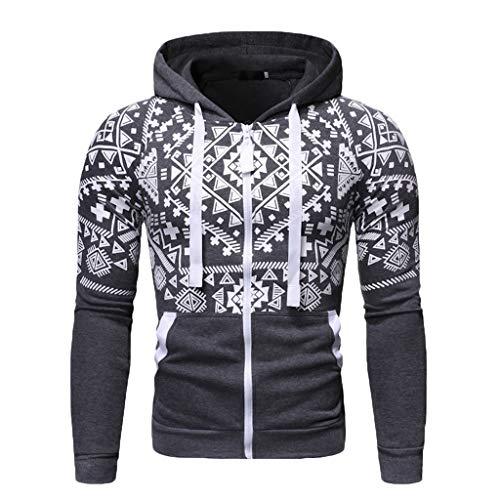Herren Sweatjacke Sportjacke Sweatshirt Mit Kapuzen Herbst Winter Pullover Langarm Tops Männer Zipper Hoodie Kölner Karneval Kapuzenpullover CICIYONER