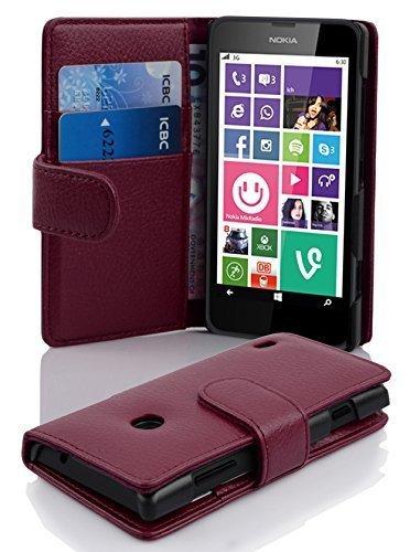 Cadorabo Funda Libro para Nokia Lumia 630/635 en Burdeos Violeta - Cubierta...