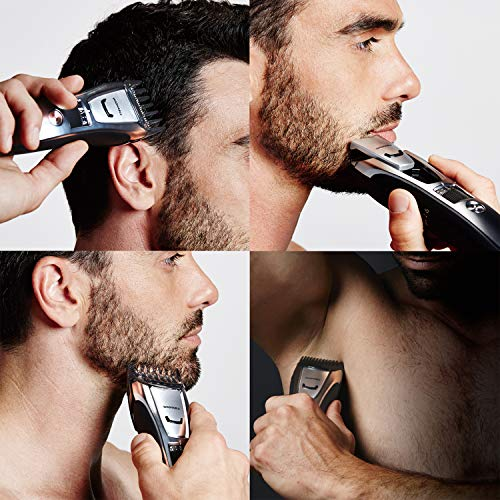 Panasonic Beard, Mustache, Hair and Body Electric Trimmer, Silver- ER-GB80-S