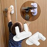 ViViKaya Cerradura de puerta para niños, 2 Piezas, cerradura de seguridad para niños con adhesivo 3M, para niños La seguridad del bebé evita que el niño abra la puerta