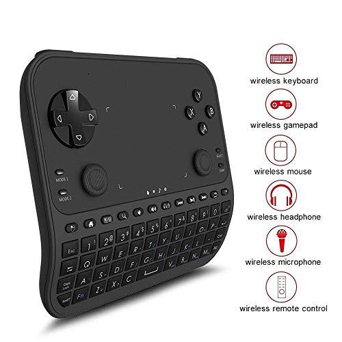 Mini Tastatur Wireless,GAKOV 2.4 GHz Mini Wireless Keyboard mit Smart Gamepad Touchpad und Fernsteuerung für Android TV Box, HTPC, Xbox, Smart TV, Laptop/PC