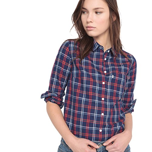 Levi's Modern One Pocket Blusa, Azul (Medieval Blue Plaid), 34 (Talla del Fabricante: X-Small) para Mujer