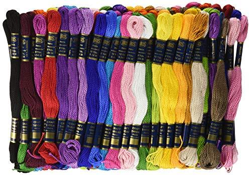 IRIS 2-Strand Fray résistant Craft Filetage, 100% Coton, Multicolore, 9,14 m, Lot de 105