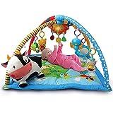 VTech Mantita de juego cantarín 2 en 1, manta y gimnasio de aprendizaje para bebé con...