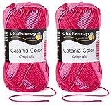 2x50 Gramm Schachenmayr Catania Color inkl. Anleitung für ein Meerschwein (030 Catalin Color)