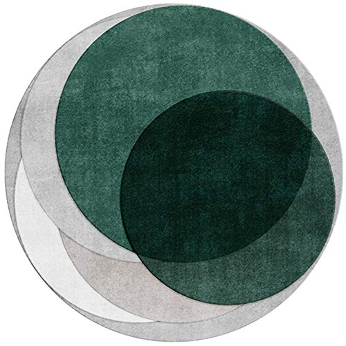 WZLL Round Rug Modern Living Room Circular Rugs Washable Used for Bedroom Study Computer Chair Floor Mat Diameter 80cm/100cm/120cm/40cm (Color : 02, Size : Ø140cm)