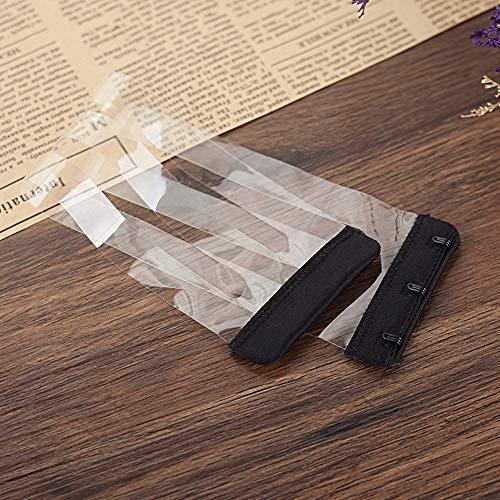Anjing 4PCS Rutschfest Elastic Schnalle Soft-BH Extender 3Haken Verlängerung Gurt transparent, schwarz