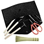 """Premium Bonsai Tool Kit + Bonsai 101 Book - Set Includes: Wooden Rake, Long & Wide Spades, Scissors, Tweezers, Bamboo… 15 Everything you need to care for your bonsai, in one stylish case: pruning shear and scissors to cut twigs, smaller branches, leaves or roots easily. Pair of tweezers to remove dead leaves, insects, weeds and other fine debris. Bamboo brush to enhance your bonsai tree, bamboo rake to plane or rake the surface of the soil when repotting, and 2 spades (long & wide). Includes best selling book """"bonsai: 101 essential tips"""" by bonsai expert Harry Tomlinson (DK Publishing), with 72 full color illustrated pages. Everything you need to know about bonsai care, maintenance, design, and arrangement. With clear explanations of bonsai and what it is, these 101 easy-to-grasp tips have everything you need to get the results you want. Premium quality: Everything is made with only the finest steel and bamboo, as you would expect from the Planters' Choice brand. And it comes neatly packaged in a stylish storage case so that it makes a great gift for your friend or family."""