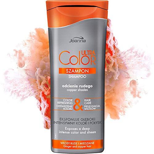 Joanna Ultra Color - Shampoo für Haare in Kupfer-Farbtönen - Stärkendes & revitalisierendes Haarshampoo - Farbauffrischung - Vertieft die Farbintensität - Pflege & Feuchtigheit für Ihr Haar - 200 ml