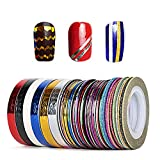46 Pcs Nail Sticker Autocollant Fil Striping Tape Bande Manucure Rouleau à...