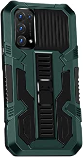 Hicaseer Case for Oppo Reno5 5G, PC Hard Back Textured Shock and Drop Resistant Cover with Double Orotection Stand phone C...