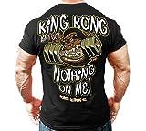 Monsta Clothing Co. Men's Bodybuilding Workout (King Kong) Gym T-Shirt (G:BK) Black