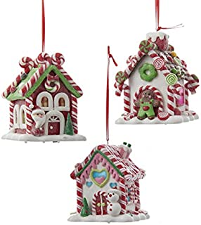B/O Gingerbread LED Candy House - Set of 3 - D2462