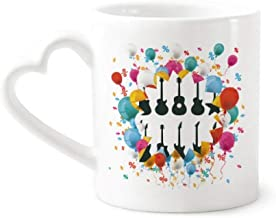 cold master DIY lab Electric Guitar Music Vitality Sounds Festival Balloon Mug Coffee Cup Pottery Ceramic Heart Handle