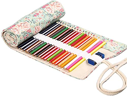 Cajas de lápiz Caja de lápiz lápiz Envoltura enrollar la Caja lápiz lápiz Bolsa Lienzo Caja de lápices 12-veinticuatro