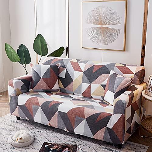 WXQY Geometric Pattern Elastic Sofa Cover Elastic L-Shaped Corner Sofa Cover Combination Dust-Proof Non-Slip Sofa Cover A2 1 Seater