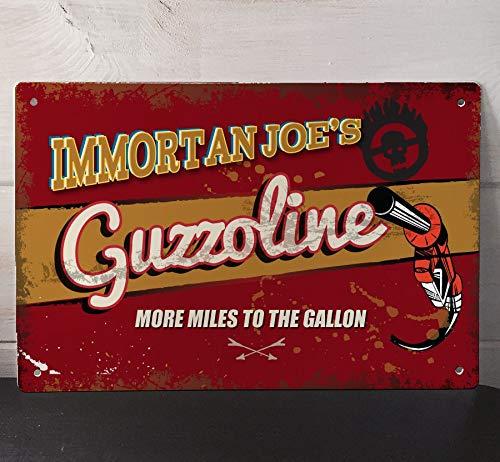 Artylicious Mad Max Fury Road Immortan Joe's Guzzolin Schild A4 Retro Metallschild